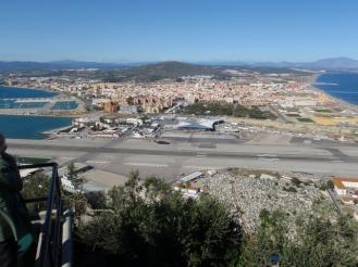 Aventura Malaga - La Linea sett fra Gibraltar